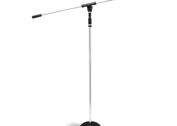 Heavy Duty Compact Base Boom Microphone Stand - 1
