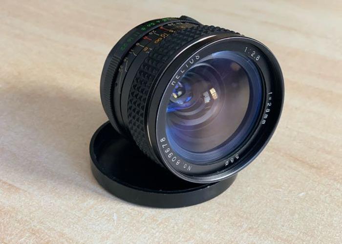 Helios 28mm f2.8 Prime Manual Vintage Lens + M42> EF Adaptor - 1