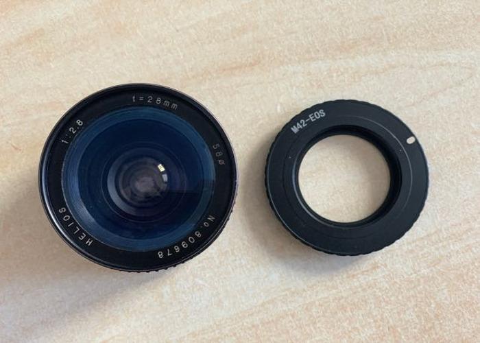 Helios 28mm f2.8 Prime Manual Vintage Lens + M42> EF Adaptor - 2
