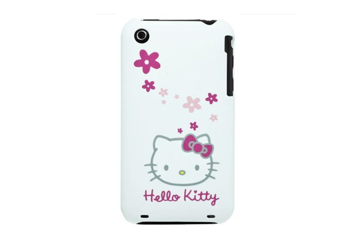Hello Kitty iPhone 3GS Rear Cover / Case - White - 1