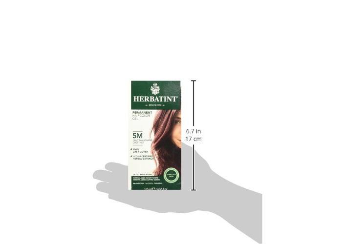 Herbatint Permanent Herbal Hair Colour Gel, 5M Light Mahogany Chestnut, 150 ml - 2
