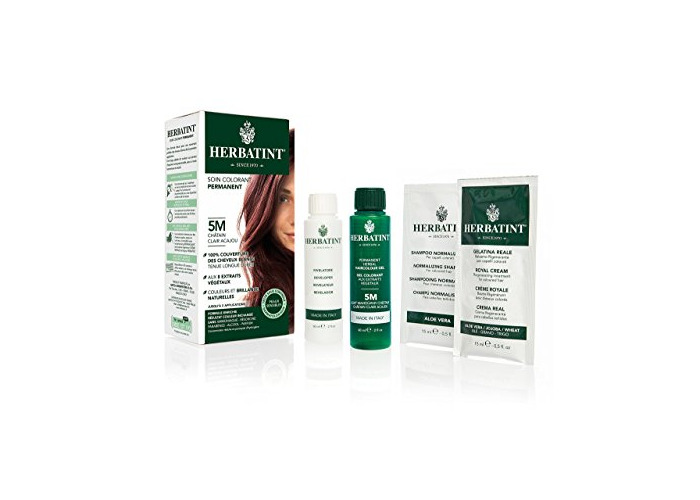 Herbatint Permanent Herbal Hair Colour Gel, 5M Light Mahogany Chestnut, 150 ml - 1