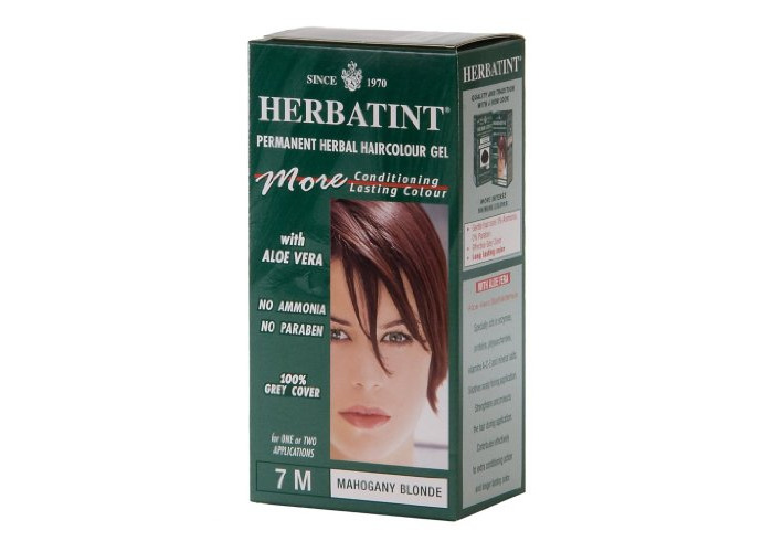 Herbatint Permanent Herbal Haircolor Gel, 7M Mahogany Blonde, 4 Ounce - 2