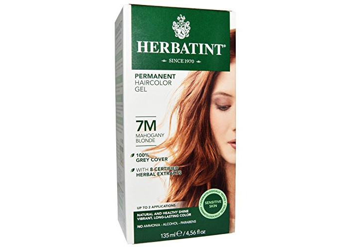 Herbatint Permanent Herbal Haircolor Gel, 7M Mahogany Blonde, 4 Ounce - 1