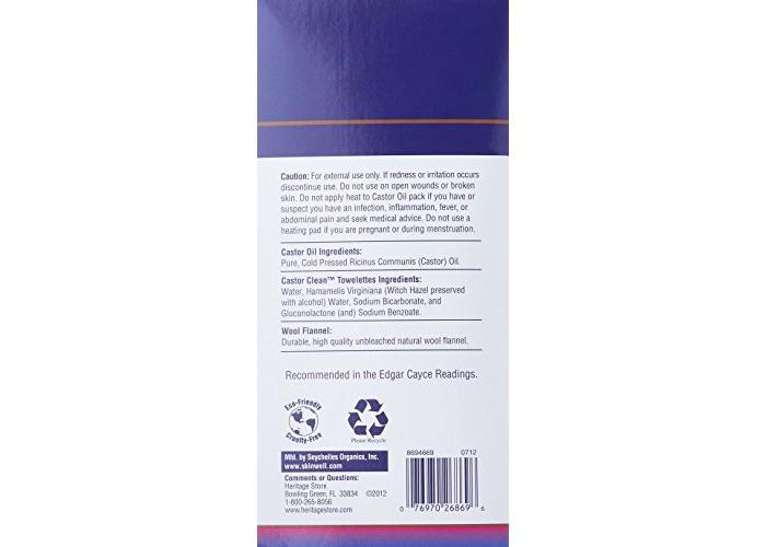 Heritage Store Castor Oil Pack Kit - 2