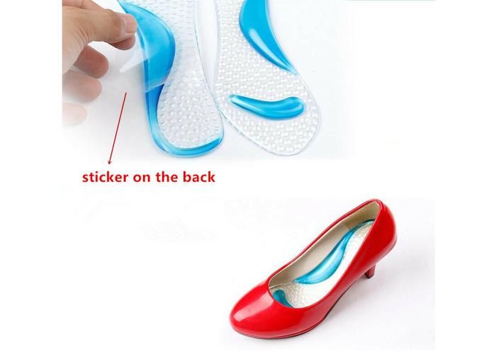 Fashion Gel Heel Insole Flat Feet Fallen Arch Supports Pad