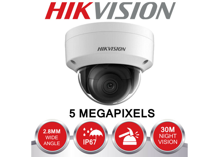 HIKVISION 5MP IP POE SYSTEM 4K UHD 4CH CHANNEL NVR CCTV DOME CAMERA SECURITY KIT - 2