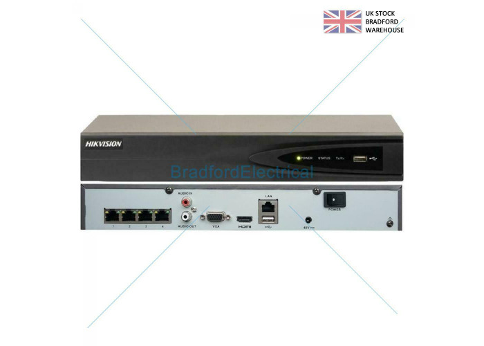 HIKVISION 8MP NVR IP POE 4K CCTV SECURITY RECORDER 4CH CHANNEL DS-7604NI-K1/4<wbr/>P ( - 2