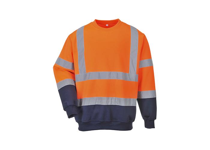 Hi-Vis 2-Tone Sweatshirt  OrNa  Large  R - 1