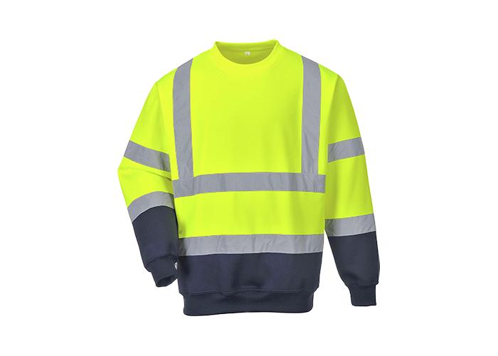 Hi-Vis 2-Tone Sweatshirt  YeNa  3 XL  R - 1