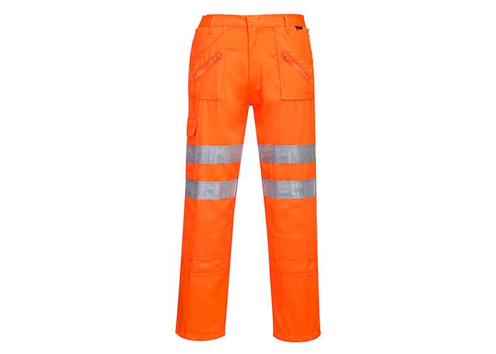 Hi-Vis Action Trousers RIS  Orange  Large  R - 1