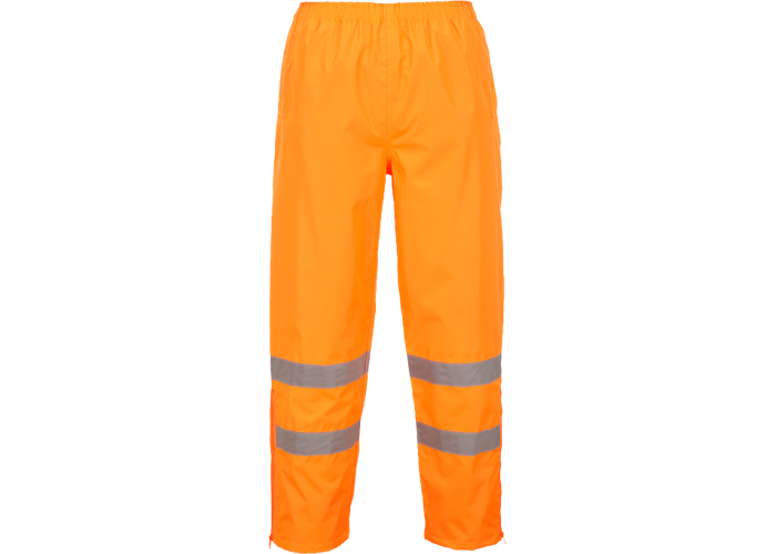 Hi-Vis Breathable Trousers  Orange  Large  R - 1