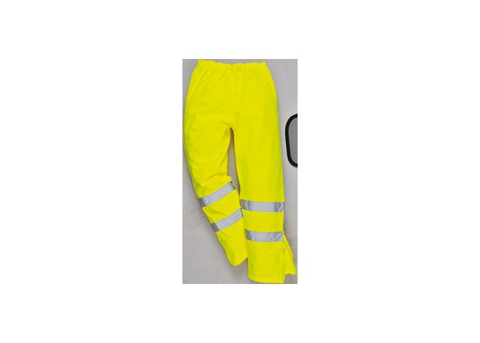 Hi-Vis Breathable Trousers  Yellow  Medium  R - 1