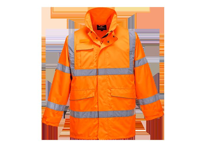 Hi-Vis Extreme Parka Jacket  Orange  Small  R - 1