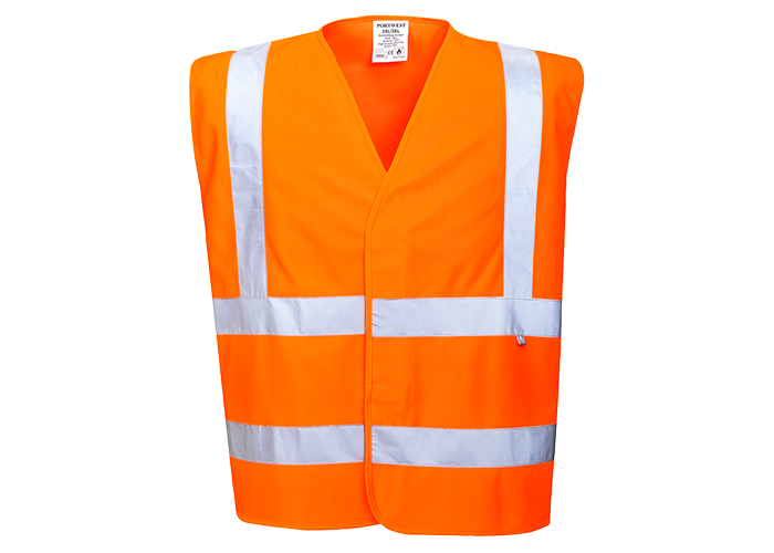 Hi-Vis FR Treated Vest  Orange  SM  R - 1