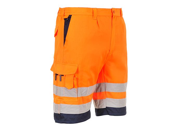 Hi-Vis P/C Shorts  OrNa  Small  R - 1