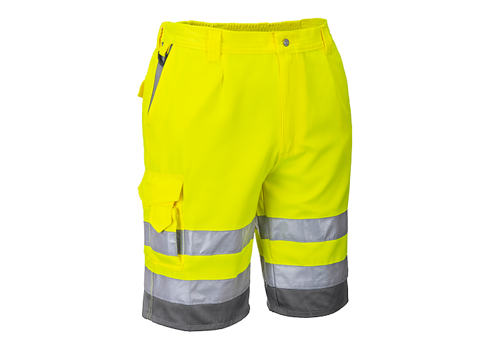 Hi-Vis P/C Shorts  YeGrey  Medium  Y - 1