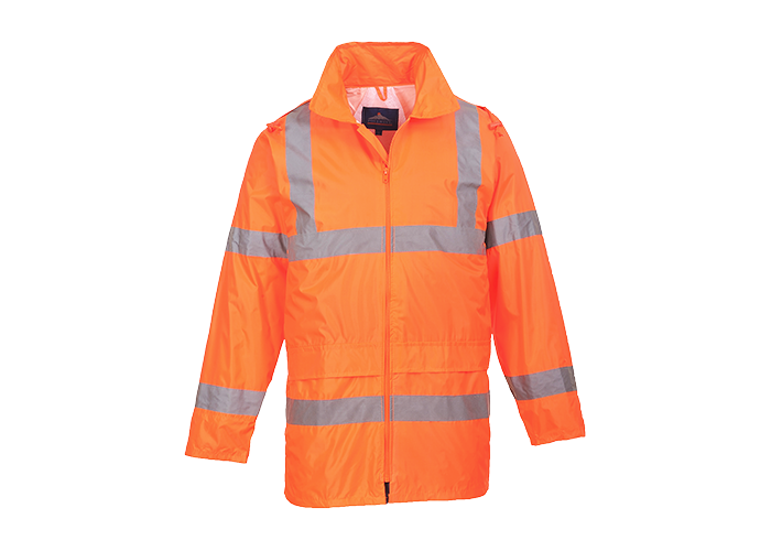 Hi-Vis Rain Jacket  Orange  Large  R - 1