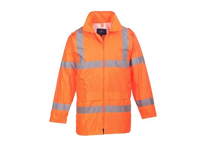 Hi-Vis Rain Jacket  Orange  XXL  R - 1