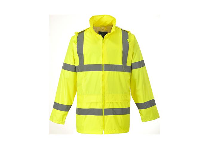 Hi-Vis Rain Jacket  Yellow  Medium  R - 1