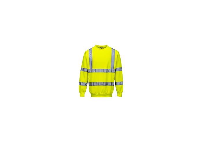 Hi-Vis Sweatshirt  Yellow  Large  R - 1