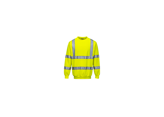 Hi-Vis Sweatshirt  Yellow  Small  R - 1