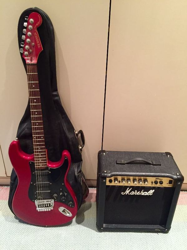 Hohner Guitar and Marshall amp package - 1