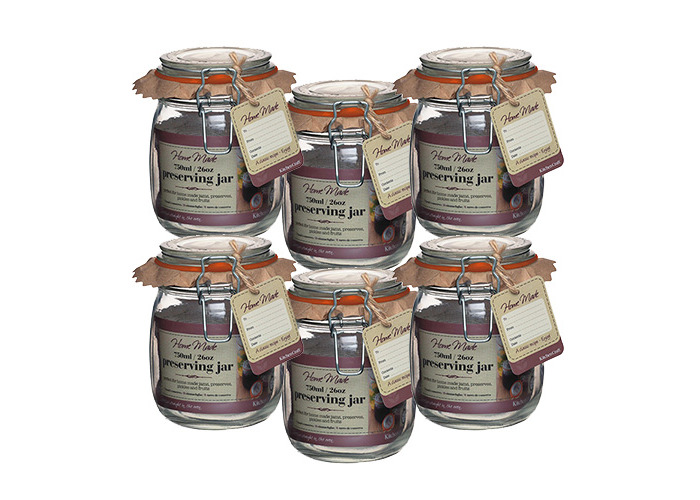 Home Made Glass 750ml Preserving Jar Set Of 6 - 1