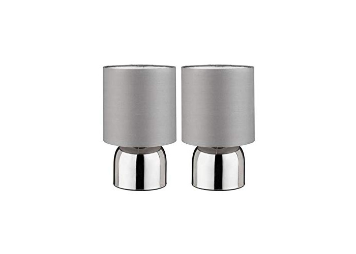 Home Pair of Touch Table Lamps - Flint Grey - 1