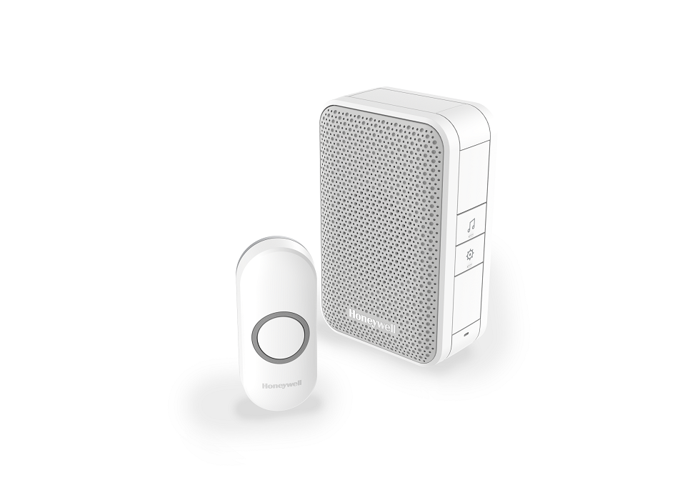 Honeywell Series 3 Wireless Portable Doorbell Kit, White - 1