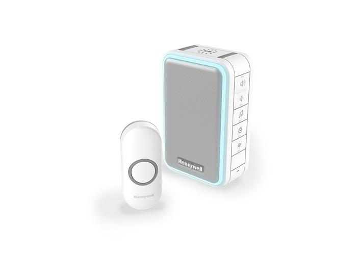 Honeywell Series 3 Wireless Portable Doorbell Kit with Halo Light and Sleep Mode, White - 1