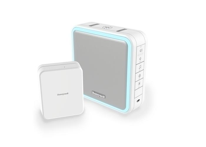 Honeywell Series 9 Wireless Portable Doorbell Kit with Range Extender, Sleep Mode, Wired to Wireless Converter, White - 1