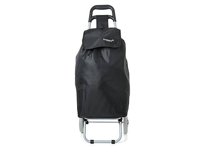 Hoppa Black Lightweight hard wearing in microfiber shopping trolley - 2