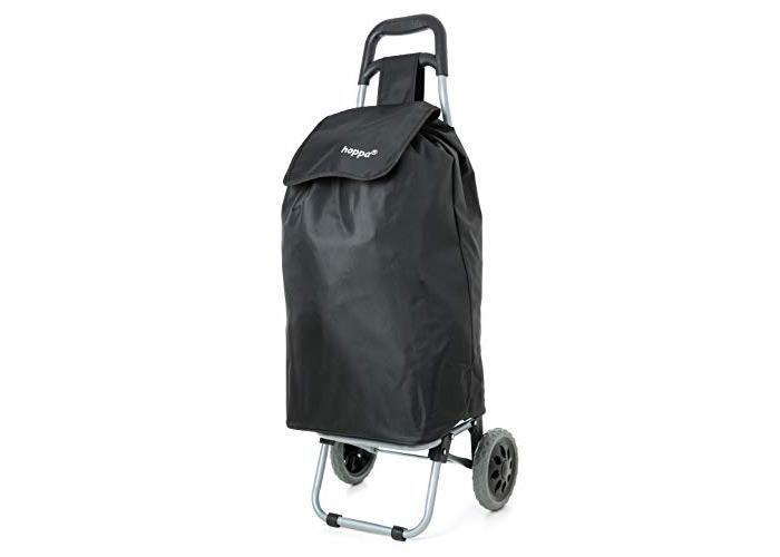 Hoppa Black Lightweight hard wearing in microfiber shopping trolley - 1