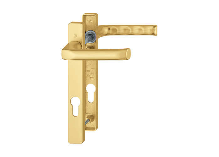 HOPPE London UPVC Lever Door Furniture 113P/366M - 92mm Centres Gold - 1