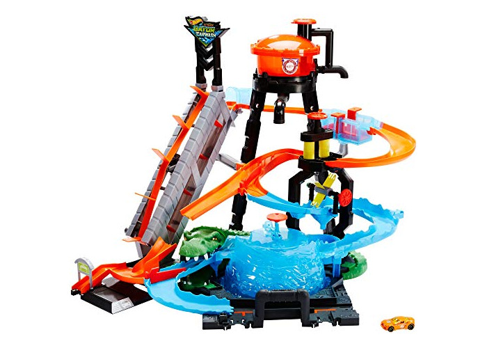 Hot Wheels FTB67 City Gator Car Wash Connectable Play Set with Diecast and Mini Toy Car - 1