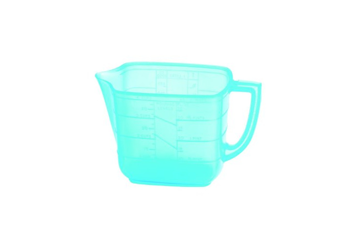 Household 1 litre Measuring Jug Blue - 1