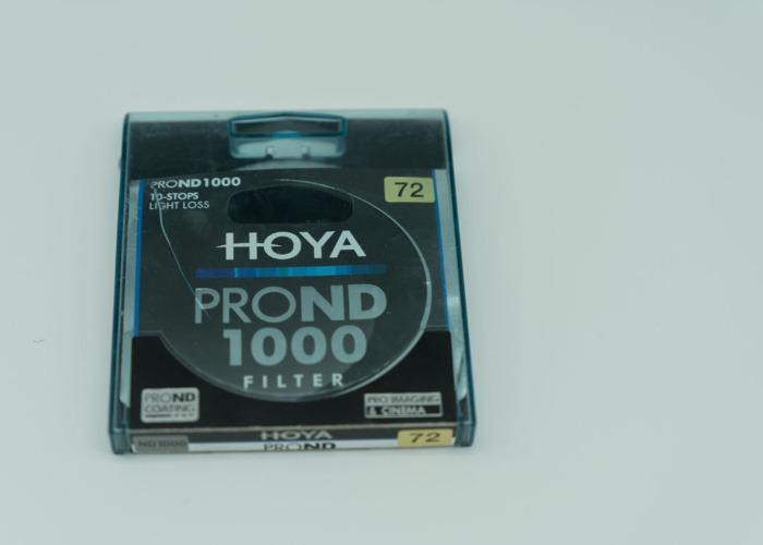 Hoya  PRO ND1000 10-stop 72mm neutral density filter  - 1