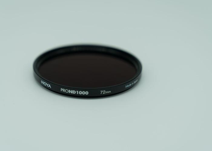 Hoya  PRO ND1000 10-stop 72mm neutral density filter  - 2