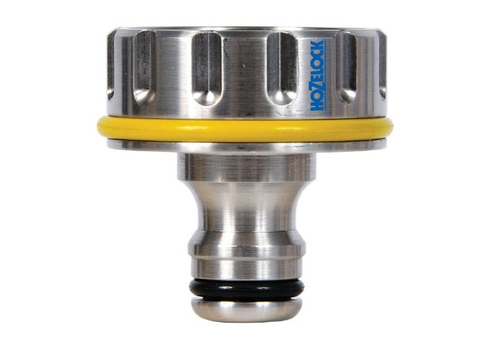 """Hozelock 1"""", 33.3mm Pro Metal Outdoor Tap Connector - 1"""