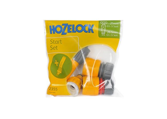 HOZELOCK Juego conectores básico con lanza en bolsa, Standard, 16.5x15.5x3.8 cm - 1