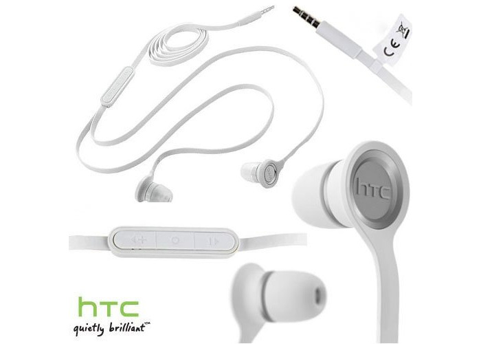 HTC RC E190 Tangle Free Media Headset - White - 1