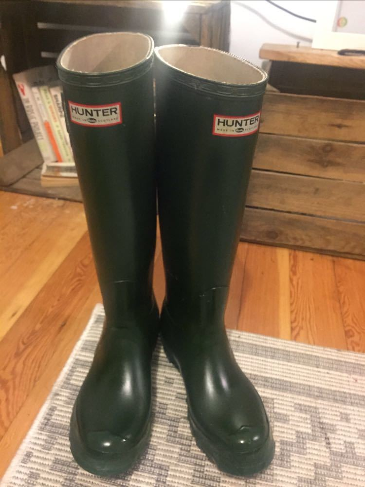 Hunter green wellies size UK4 (37) - 1
