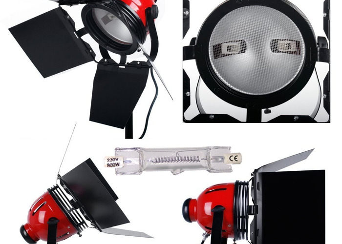 Ianiro Red 3 Head Kit Video Studio Continuous Lighting