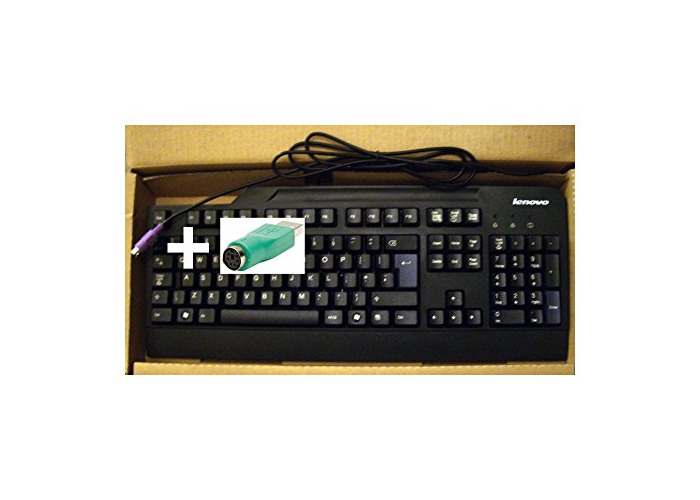 IBM Lenovo 41A5075 31P7450 32P5135 Business Black Preferred Pro Fullsize PS2 / USB Keyboard Model SK-8820 - Plus USB Adapter - 1