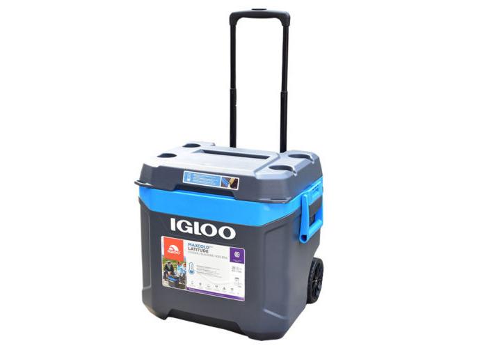 Igloo Latitude Island Breeze 62 Quart Rolling Cool Box, 58L - 1