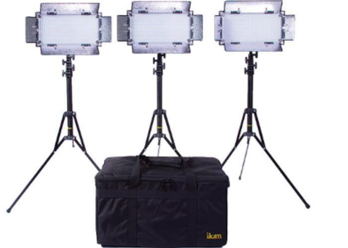 ikan IB508-v2 Bi-Color LED 3-Light Studio Kit - 1