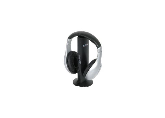 IKASU: WIRELESS HEADPHONES IN SILVER:NEW - 1