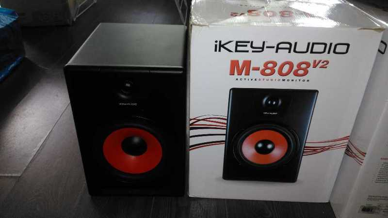 iKey M808-v2 Active Studio Monitors x2 - 1