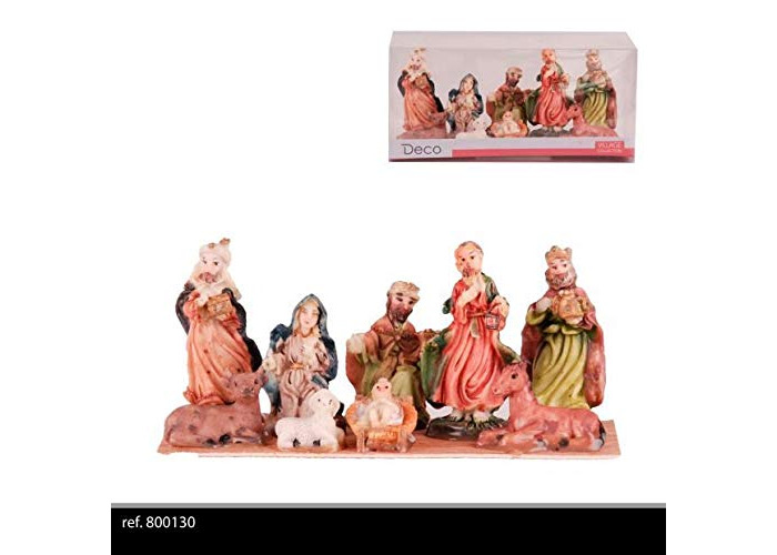 Import Distribution Fornord 8PC CHRISTMAS NATIVITY FIGURES - 1